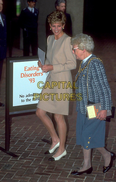 PRINCESS DIANA.Ref: HT007.eating disorders full length beige skirt jacket.www.capitalpictures.com.sales@capitalpictures.com.©Hugh Thompson/Capital Pictures