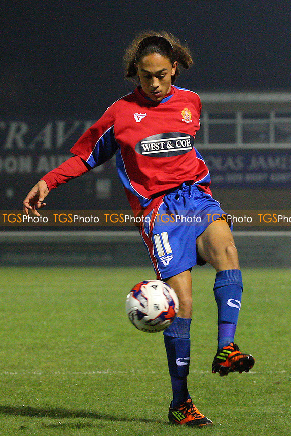 Jodi Jones of Dagenham - Dagenham and Redbridge vs Waltham Abbey - Essex Senior Cup action at the London Borough of Barking and Dagenham Stadium on 24/11/2014 - MANDATORY CREDIT: Dave Simpson/TGSPHOTO - Self billing applies where appropriate - 0845 094 6026 - contact@tgsphoto.co.uk - NO UNPAID USE