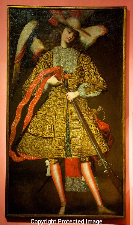 Spanish painting. Larco Museum. Lima, Peru