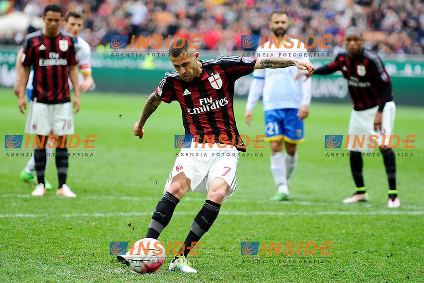Gol di Jeremy Menez Milan 3-3. Celebration goal<br /> Milano 01-05-2016 Stadio Giuseppe Meazza - Football Calcio Serie A Milan - Frosinone. Foto Giuseppe Celeste / Insidefoto