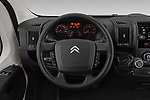 Car pictures of steering wheel view of a 2019 Citroen Jumper - 2 Door Cutaway Steering Wheel