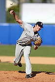 March 14, 2010:  Pitcher Trey Frahler of Bucknell University Bisons vs. UMBC in a game at Chain of Lakes Stadium in Winter Haven, FL.  Photo By Mike Janes/Four Seam Images