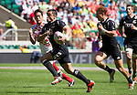 Sherwin Stowers. All Blacks Sevens beat Japan 26-14. 16 May 2015. Twickenham, London, England. Photo: Marc Weakley