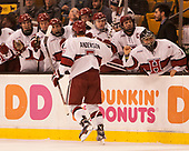 Clay Anderson (Harvard - 5) - The Harvard University Crimson defeated the Northeastern University Huskies 4-3 in the opening game of the 2017 Beanpot on Monday, February 6, 2017, at TD Garden in Boston, Massachusetts.