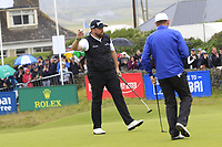 Shane Lowry (IRL) finishes on the 18th green during Saturday's Round 3 of the Dubai Duty Free Irish Open 2019, held at Lahinch Golf Club, Lahinch, Ireland. 6th July 2019.<br /> Picture: Eoin Clarke | Golffile<br /> <br /> <br /> All photos usage must carry mandatory copyright credit (© Golffile | Eoin Clarke)
