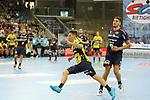 Rhein Neckar Loewe Jerry Tollbring (Nr.17) beim Gegenstoss beim Spiel in der Handball Bundesliga, SG BBM Bietigheim - Rhein Neckar Loewen.<br /> <br /> Foto &copy; PIX-Sportfotos *** Foto ist honorarpflichtig! *** Auf Anfrage in hoeherer Qualitaet/Aufloesung. Belegexemplar erbeten. Veroeffentlichung ausschliesslich fuer journalistisch-publizistische Zwecke. For editorial use only.
