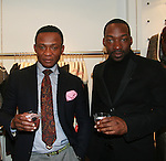 Abre and Ade attend an exclusive elegant evening of fashion and design through Shop for a Cause highlighting art and fashion from local emerging Haitian artisans hosted by Designer, Tracy Reese, JRT Multimedia, CEO Jocelyn Taylor and BACARDI USA at the Tracy Reese Flagship Store 1/26/11<br />