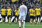 11.05.2019, Signal Iduna Park, Dortmund, GER, DFL, 1. BL, Borussia Dortmund vs Fortuna Duesseldorf, DFL regulations prohibit any use of photographs as image sequences and/or quasi-video<br /> <br /> im Bild die Mannschaft von Dortmund jubelt nach dem Tor zum 3:1, Torschuetze Mario G&ouml;tze / Goetze (#10, Borussia Dortmund) <br /> <br /> Foto &copy; nordphoto/Mauelshagen