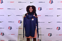 Los Angeles, CA - Thursday January 12, 2017: Miranda Freeman during the 2017 NWSL College Draft at JW Marriott Hotel.