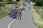 Movistar Team and Groupama-FDJ lead the peloton during Stage 4 of the Route d'Occitanie 2019, running 154.8km from Gers - Astarac Arros en Gascogne to Clermont-Pouyguillès, France. 23rd June 2019<br /> Picture: Colin Flockton | Cyclefile<br /> All photos usage must carry mandatory copyright credit (© Cyclefile | Colin Flockton)