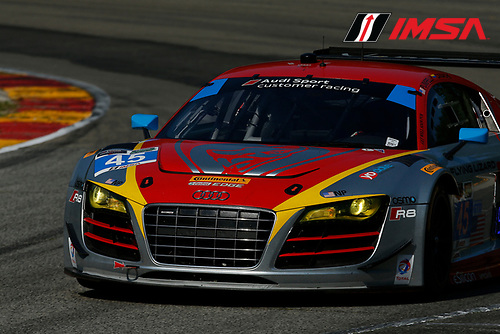 8-10 August 2014, Elkhart Lake, Wisconsin USA<br />  45, Audi, R8 LMS, GTD, Nelson Canache Jr, Spencer Pumpelly<br /> &copy;2014, Michael L. Levitt<br /> LAT Photo USA for IMSA