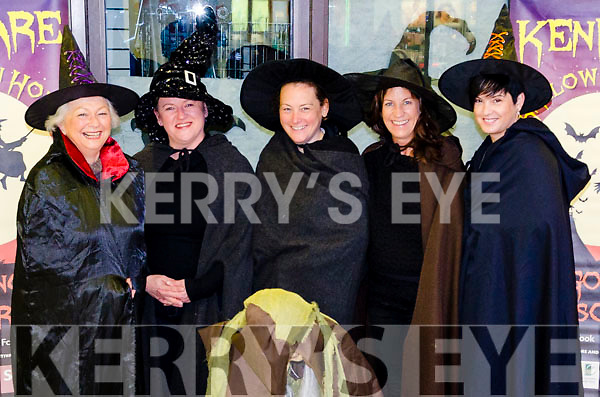IT'S A HALLOWEN HOWL KENMARE STYLE:  Launching this year's Halloween Howl in Kenmare are l-r witches Lynne Brennan, Margaret McCarthy, Helen McDwyer, Sarah Durkin and Irene Carey.