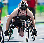 RIO DE JANEIRO - 17/9/2016:  Ilana Dupont competes in the women's 800m T5 heats at the Olympic Stadium during the Rio 2016 Paralympic Games. (Photo by Dave Holland/Canadian Paralympic Committee).