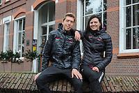 SCHAATSEN: HEERENVEEN: 21-10-2016, Perspresentatie Team Clafis, Jorrit Bergsma en Heather Richardson Bergsma, ©foto Martin de Jong