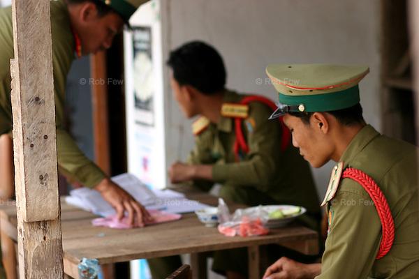 Luang Prabang police. Opium anyone?