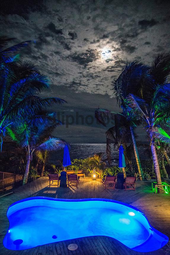 Namotu Island, Fiji (Thursday, June 4, 2015) Full Moon rising over the island.<br />  Photo: joliphotos.com