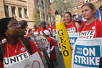 (050420-SWR087.jpg) New York, NY - Striking Graduate Student Employees from Yale and Columbia University rally on West 216th Street, across from Columbia University. Workers are calling for the right to form labor unions and to have that union recognized by the universities...© Stacy Walsh Rosenstock.stacy@impactdigitals.com