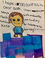 Best wishes and gratitude from Maeve Dyer Grade 1, Yarmouth, ME, USA