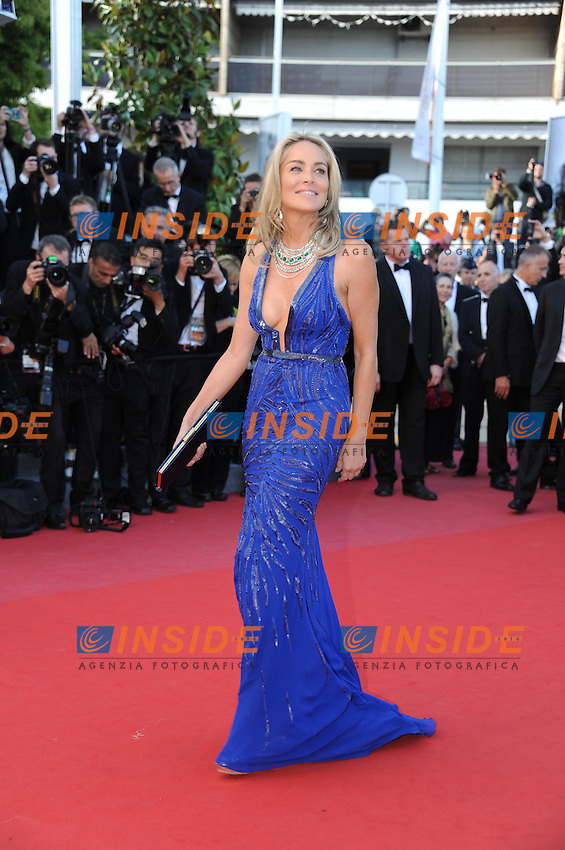 Sharon stone .Cannes 21/5/2013 .66mo Festival del Cinema di Cannes 2013 .Foto Panoramic / Insidefoto .ITALY ONLY