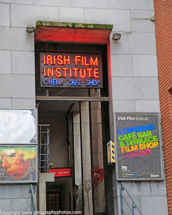 Irish Film Institute cinema cafe shop, Dublin city centre, Ireland, Republic of Ireland