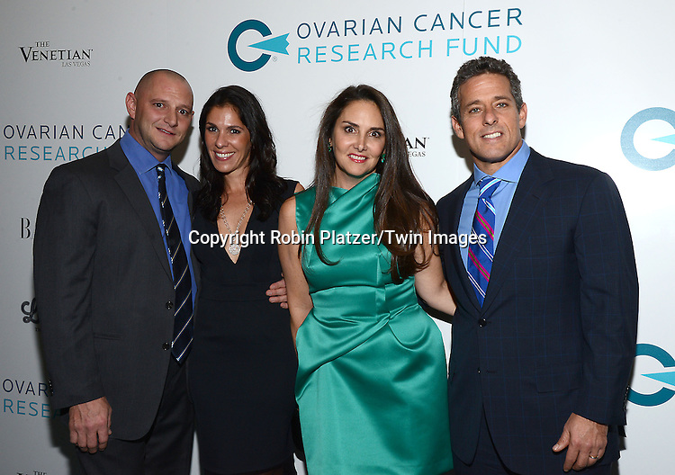 Mara and Ricky Sandler on the right attends the Ovarian Cancer Research Fund's  20th Anniversary Legends Gala on November 5, 2015 at the Pierre Hotel in New York City. <br /> <br /> photo by Robin Platzer/Twin Images<br />  <br /> phone number 212-935-0770