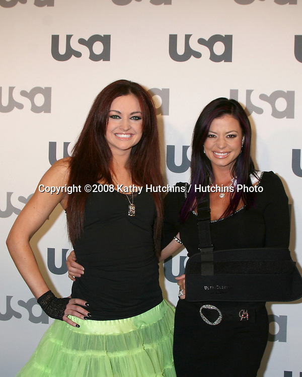 Maria & Candice Michelle.WWE Diva.USA Network 2008 LA Upfront.Craft.Century City, CA.April 3, 2008.©2008 Kathy Hutchins / Hutchins Photo