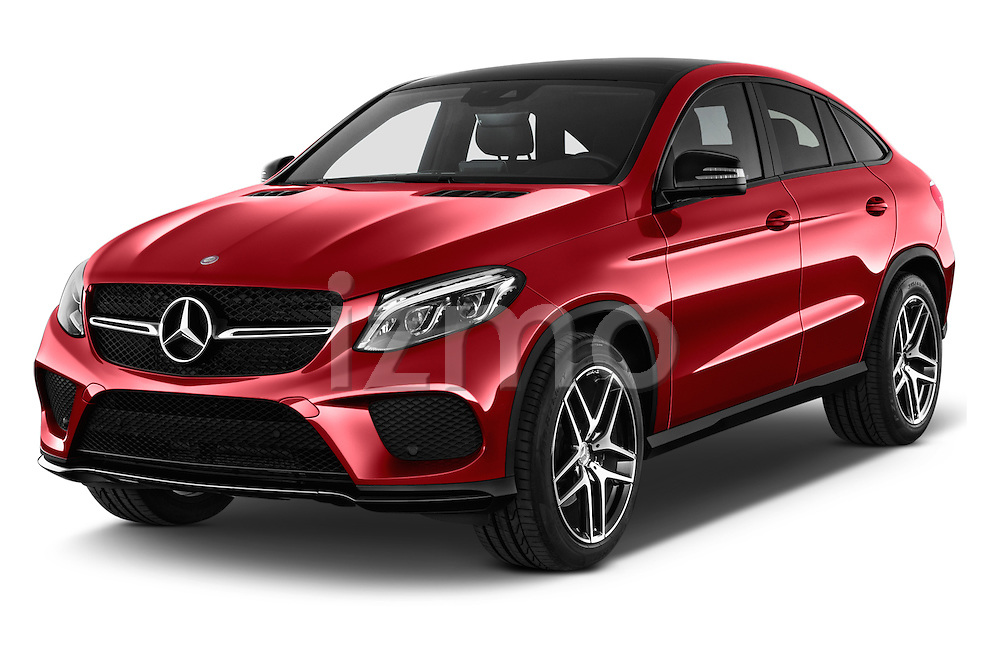 2016 Mercedes Benz GLE-Coupe - 5 Door Suv Angular Front stock photos of front three quarter view