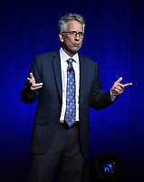 LAS VEGAS, NV - APRIL 23: President of Domestic Distribution Adrian Smith onstage at the Sony Pictures Entertainment presentation at CinemaCon 2018 at The Colosseum at Caesars Palace on April 23, 2018 in Las Vegas, Nevada. (Photo by Frank Micelotta/PictureGroup)