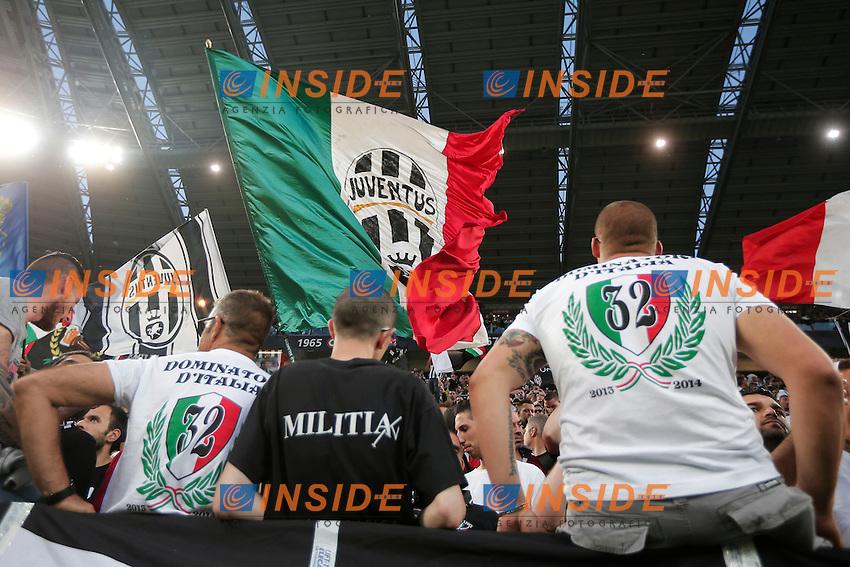 Tifosi Juventus, supporters, Torino 5-5-2014, Juventus Stadium, Football Calcio 2013/2014 Serie A, Juventus - Atalanta, Foto Marco Bertorello/Insidefoto