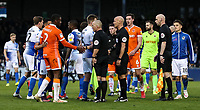 Players from both teams shake hands at the end of the match <br /> <br /> Photographer Andrew Kearns/CameraSport<br /> <br /> The EFL Sky Bet League Two - Bristol Rovers v Blackpool - Saturday 2nd March 2019 - Memorial Stadium - Bristol<br /> <br /> World Copyright © 2019 CameraSport. All rights reserved. 43 Linden Ave. Countesthorpe. Leicester. England. LE8 5PG - Tel: +44 (0) 116 277 4147 - admin@camerasport.com - www.camerasport.com