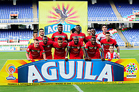 CALI - COLOMBIA - 3 - 09 - 2017:Jugadores de Cortuluá posan para una foto previo al encuentro entre Cortuluá y Atletico Junior por la fecha 11 de la Liga Aguila II 2017 jugado en el estadio Pascual Guerrero de la ciudad de Cali. / Players of Cortuluá pose to a photo prior the match between Cortuluá and Atletico Junior for the date 11 of the Liga Aguila II 2017 played at the Pascual Guerrero Stadium in Cali city.Photo: VizzorImage / Nelson Rios / Cont