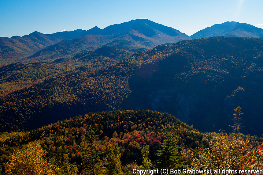 Autumn View Of Dix And Round Mountain In The Adirondack Mountains Of New York State