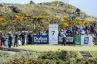 Friday 29th May 2015; Ernie Els, South Africa, tees off at the 7th<br /> <br /> Dubai Duty Free Irish Open Golf Championship 2015, Round 2 County Down Golf Club, Co. Down. Picture credit: John Dickson / SPORTSFILE