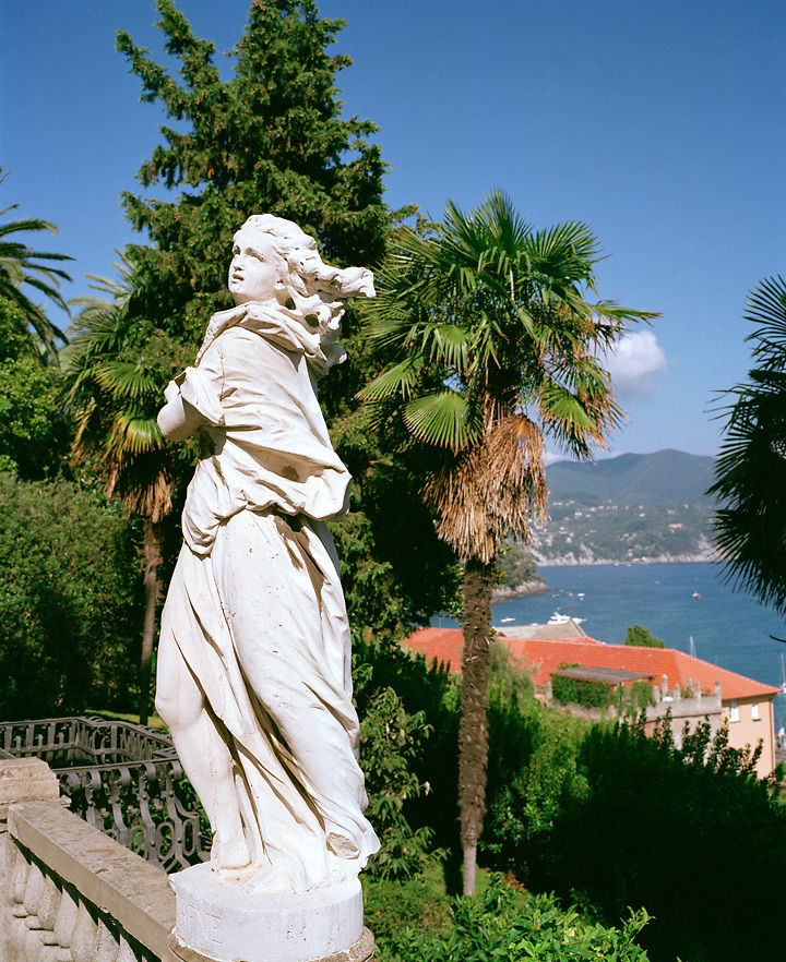 Sculpture in a park in Liguria, Italy