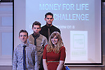 Money for Life Challenge..L-R: Rhys Edwards, Ellis Isitt, Matthew Moyle & Natasha Hill..Cardiff & Vale College..20.03.12.©Steve Pope