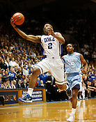Nolan Smith maintains control of the ball the last regular season game against UNC at Cameron Indoor Stadium in Durham, N.C., Sat., March 6, 2010. Smith ended the evening with 20 points. ..