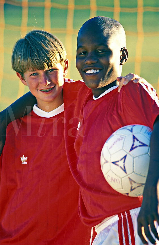 Soccer players and pals.