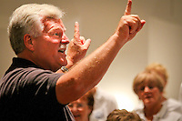 Artistic Director Douglas Renfroe leads the 60-member community choir 'Voices of Naples' in rehearsal in the Beverly Hall at Naples United Church of Christ, Naples, Florida, USA, March 7, 2011. Photo by Debi PIttman Wilkey