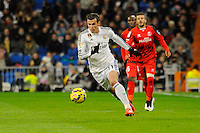 Real Madrid´s Gareth Bale during 2014-15 La Liga match between Real Madrid and Sevilla at Santiago Bernabeu stadium in Alcorcon, Madrid, Spain. February 04, 2015. (ALTERPHOTOS/Luis Fernandez) /NORTEphoto.com