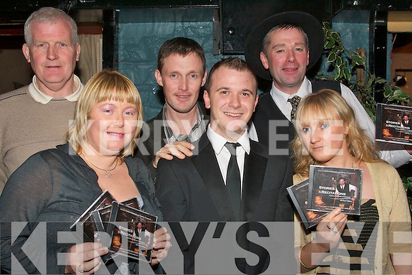 8401-8406.---------.CD Launch.---------.At the launch of a CD of music and comedy to help raise funds for cancer care at Kerry general hospital last Friday night in the Greyhound bar Pembroke St Tralee were(front)L-R Cathy O Sullivan,Cormac O Daly(young Irish Tenor)and Lisa Dennehy(back)L-R Tom Herlihy,Padraig Dennehy(CD producer)and Ray O Sullivan(story teller/actor)the CD is available in Sam MCCauley chemist Manor west shopping centre Tralee and CH chemist the Mall Tralee also Quills(Killarney)and music express Inishfallon shopping centre Killarney.   Copyright Kerry's Eye 2008