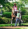 Calamity Kate before The Obeah Stakes at Delaware Park on 6/11/16