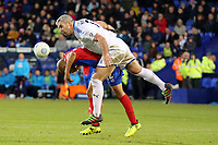 Elliott Romain of Dagenham and Steve McNulty of Tranmere Rovers during Tranmere Rovers vs Dagenham & Redbridge, Vanarama National League Football at Prenton Park on 11th November 2017