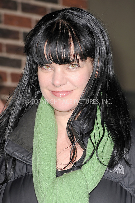 WWW.ACEPIXS.COM . . . . . .January 31, 2011...New York City...Pauley Perrette tapes the Late Show with David Letterman on January 31, 2011 in New York City....Please byline: KRISTIN CALLAHAN - ACEPIXS.COM.. . . . . . ..Ace Pictures, Inc: ..tel: (212) 243 8787 or (646) 769 0430..e-mail: info@acepixs.com..web: http://www.acepixs.com .