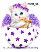 Kayomi, CUTE ANIMALS, paintings, CupKittyAngel_M, USKH36,#AC# stickers illustrations, pinturas ,everyday
