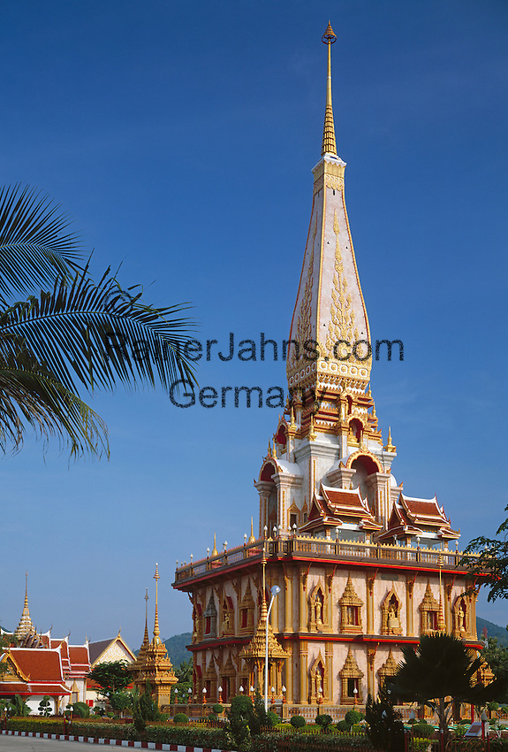 Thailand, Phuket, Wat Chalong: most popular Buddhist temple on Phuket island