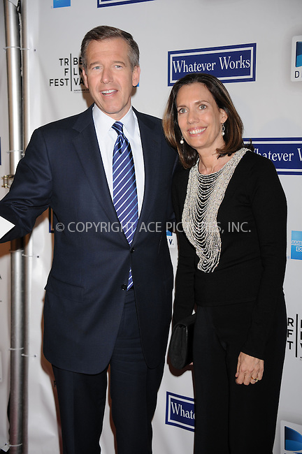 WWW.ACEPIXS.COM . . . . . ....April 22 2009, New York City....Brian Williams and Jane Williams arriving at the premiere of 'Whatever Works' during the 2009 Tribeca Film Festival at Ziegfeld on April 22, 2009 in New York City.....Please byline: KRISTIN CALLAHAN - ACEPIXS.COM.. . . . . . ..Ace Pictures, Inc:  ..tel: (212) 243 8787 or (646) 769 0430..e-mail: info@acepixs.com..web: http://www.acepixs.com