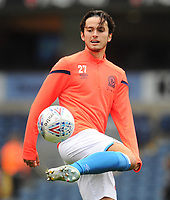 Blackburn Rovers' Lewis Travis during the pre-match warm-up <br /> <br /> Photographer Kevin Barnes/CameraSport<br /> <br /> The EFL Sky Bet Championship - Blackburn Rovers v Luton Town - Saturday 28th September 2019 - Ewood Park - Blackburn<br /> <br /> World Copyright © 2019 CameraSport. All rights reserved. 43 Linden Ave. Countesthorpe. Leicester. England. LE8 5PG - Tel: +44 (0) 116 277 4147 - admin@camerasport.com - www.camerasport.com