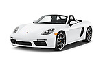 2017 Porsche 718 Boxster-S 2 Door Convertible Angular Front stock photos of front three quarter view