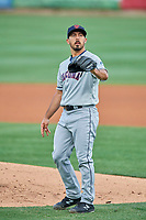 Ryan Garton (51) of the Tacoma Rainiers during the game against the Salt Lake Bees at Smith's Ballpark on May 27, 2019 in Salt Lake City, Utah. The Bees defeated the Rainiers 5-0. (Stephen Smith/Four Seam Images)