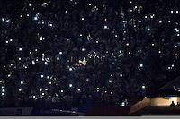 SÃO PAULO, SP, 21.10.2015 - SÃO PAULO-SANTOS - Falta de luz paralisa a partida do Santos  contra o São Paulo, jogo válido pela semifinal da Copa do Brasil 2015, no estádio do Morumbi, região sul de São Paulo, nesta quarta, 21. (Foto: Levi Bianco / Brazil Photo Press)